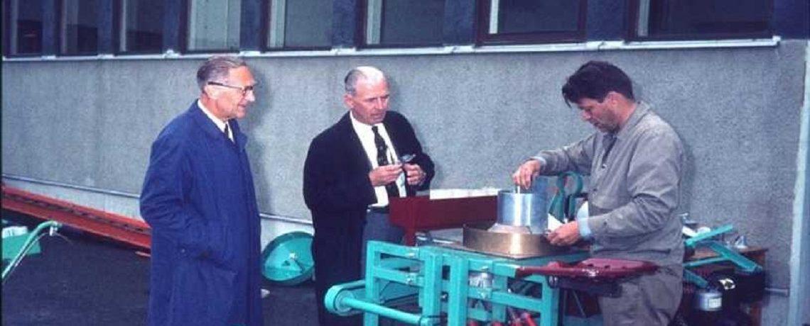 The Nobel Prize winner Norman E. Borlaug and Egil Øyjord