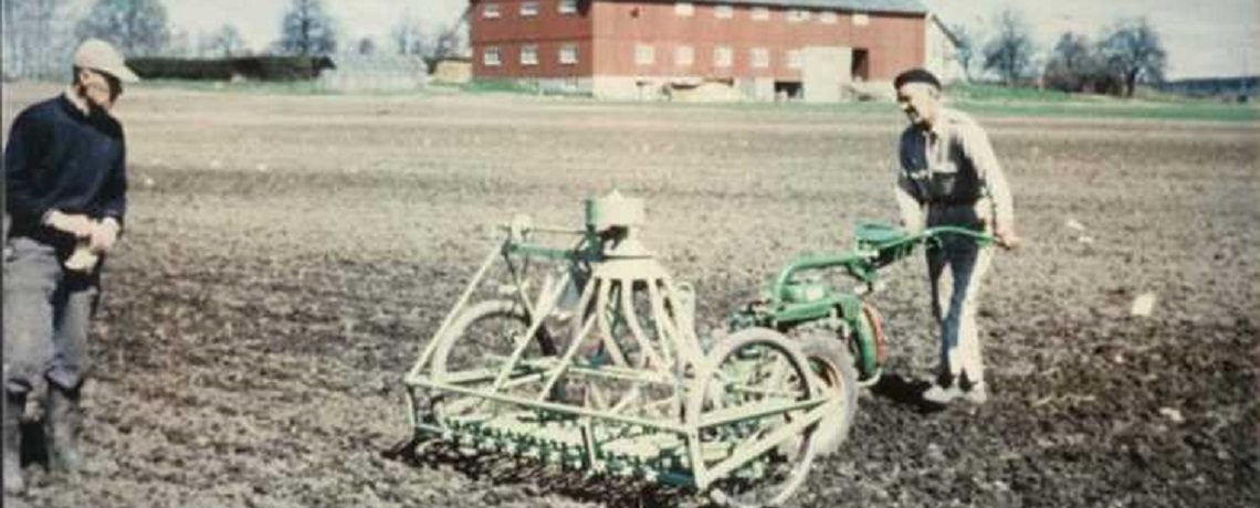 The first Oyjord plot seeder